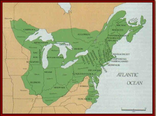 Native American Culture MapNorth East Coast - Northern East Coast Us Map