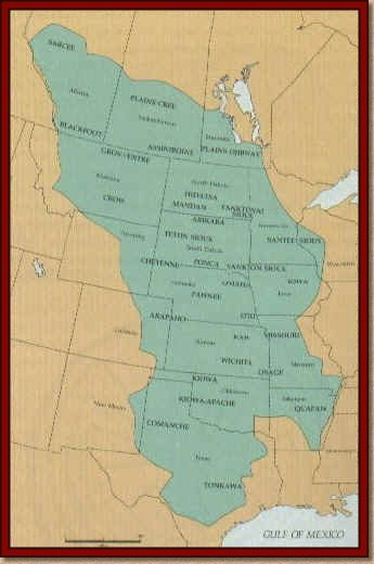 Native American Culture MapGreat Plains