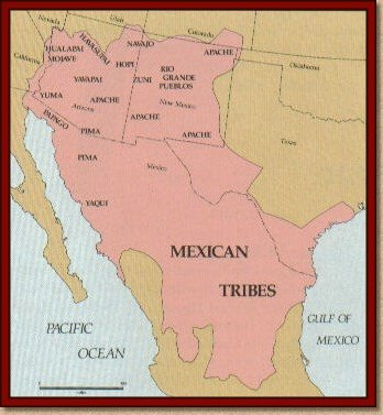 southwest native american map Native American Culture Map South West